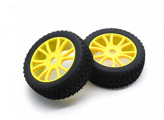 HobbyKing 1/8 Scale Scrambler Y-Spoke Wheel/Tire 17mm Hex (Yellow)