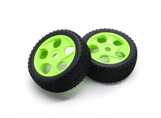 HobbyKing 1/8 Scale K Spec Star Spoke Wheel/Tire 17mm Hex (Green)
