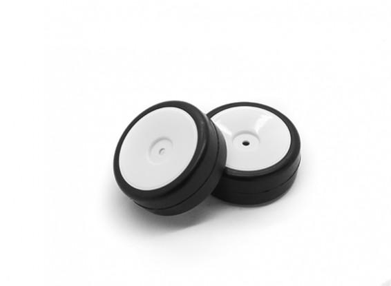 HobbyKing 1/10 Wheel/Tire Set Rally Dish Slick Tread (White) RC Car 26mm (2pcs)