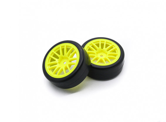 HobbyKing 1/10 Wheel/Tire Set Y-spoke (Yellow) RC Car 26mm (2pcs)
