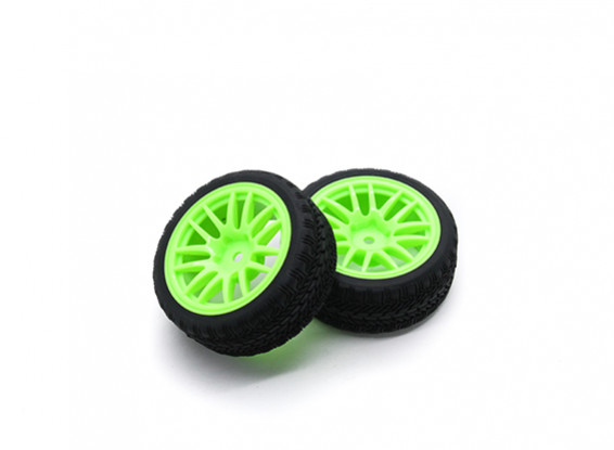 HobbyKing 1/10 Wheel/Tire Set VTC Y Spoke(Green) RC Car 26mm (2pcs)