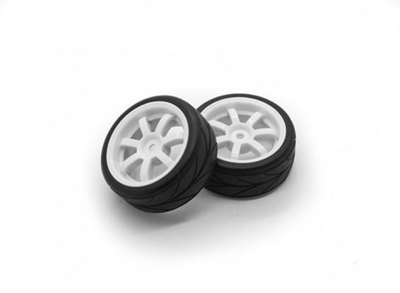 HobbyKing 1/10 Wheel/Tire Set VTC 7 Spoke(White) RC Car 26mm (2pcs)