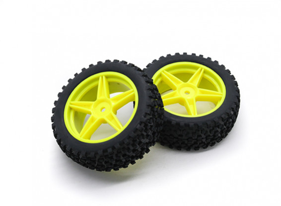 HobbyKing 1/10 Small Block 5-Spoke (Yellow)Wheel/Tire 12mm Hex (2pcs/bag)