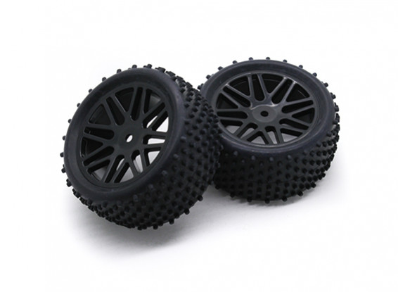 HobbyKing 1/10 Aerator Y-Spoke Rear (Black) Wheel/Tire 12mm Hex (2pcs/Bag)