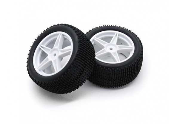 HobbyKing 1/10 Gekkota 5-Spoke Rear (White) Wheel/Tire 12mm Hex (2pcs/Bag)
