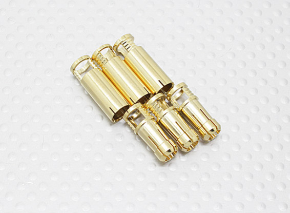 6mm RCPROPLUS Supra X Gold Bullet Connectors (3 pairs)