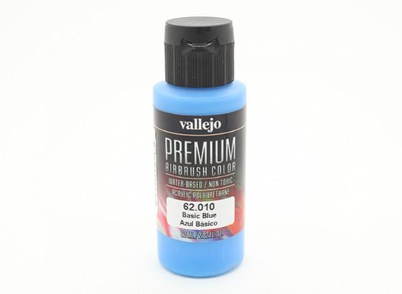 Vallejo Premium Color Acrylic Paint - Basic Blue (60ml) 62.010