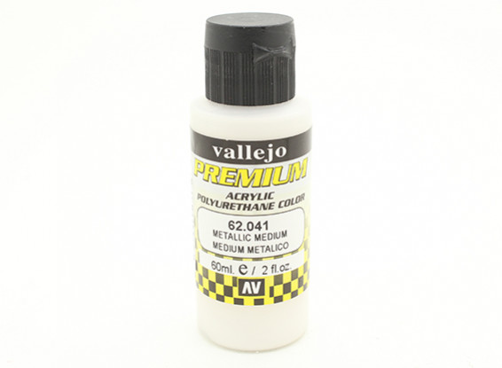 Vallejo Premium Color Acrylic Paint - Metallic Medium (60ml) 62.041