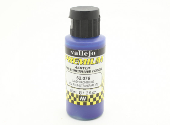 Vallejo Premium Color Acrylic Paint - Candy Racing Blue (60ml) 62.076