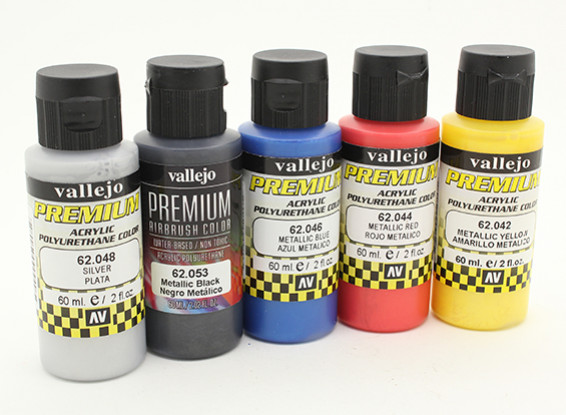 vallejo premium color acrylic paint metallic color selection 5 x