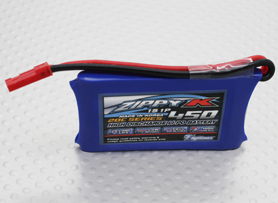 Zippy-K Flightmax 450mah 1S1P 20C Lipoly Battery