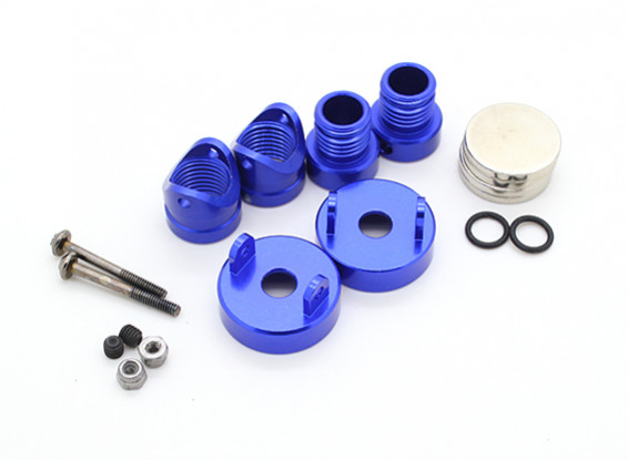 Invisible Aluminum Body Mount Posts (2pcs) Blue