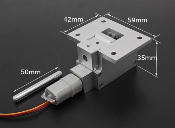 All Metal Servoless 90 Degree Retract for Large Models (6kg) w/6mm Pin