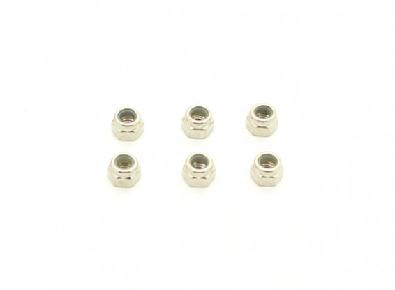 3.5mm Nylock Nuts (6pcs) - BSR 1/8 Rally