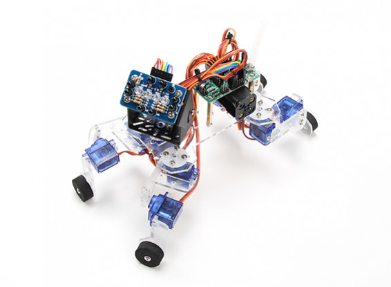 Playful Puppy Robotic Kit with ATmega8 Control Board and IR Sensor