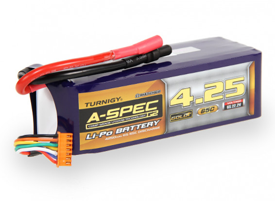 Turnigy nano-tech A-SPEC G2 4250mah 6S 65~130C Lipo Pack