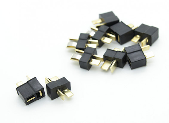 Mini Black T Connector Pack (5 Pairs)