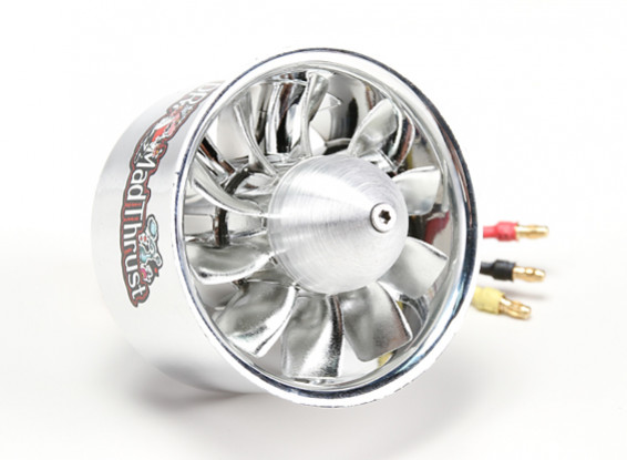 Dr. Mad Thrust 70mm 10 Blade EDF Electroplated Version 2600kv/6S