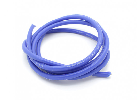 Turnigy Pure-Silicone Wire 12AWG 1m (Blue)