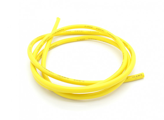 Turnigy Pure-Silicone Wire 12AWG 1m (Yellow)