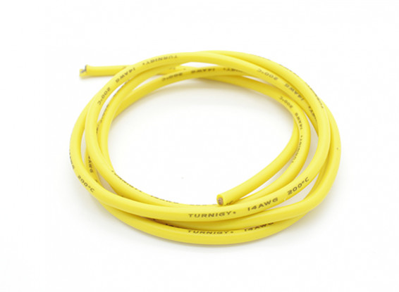 Turnigy Pure-Silicone Wire 14AWG 1m (Yellow)