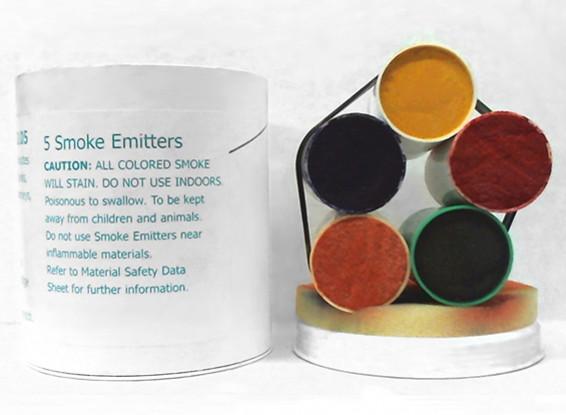 4 Minute Assorted Color Smoke Cartridges (5pcs)