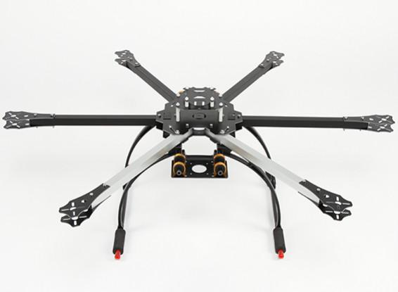 HobbyKing 650X6 Folding HexaCopter Frame with Tall Crab Landing Gear ...