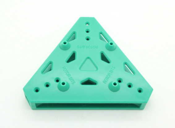 RotorBits Tri-Copter Mounting Plate (Green)