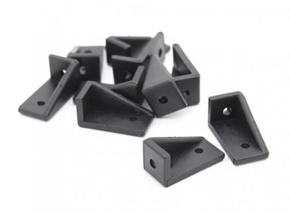 RotorBits 20x10 Right Angle Bracket  LH (Black) (10pcs/bag)