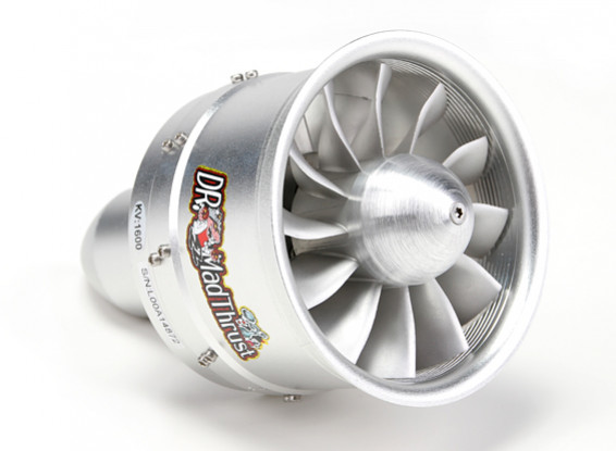 Dr. Mad Thrust 90mm 12 Blade Alloy EDF w/Metal Rotor1600kv - 2800w (6S)