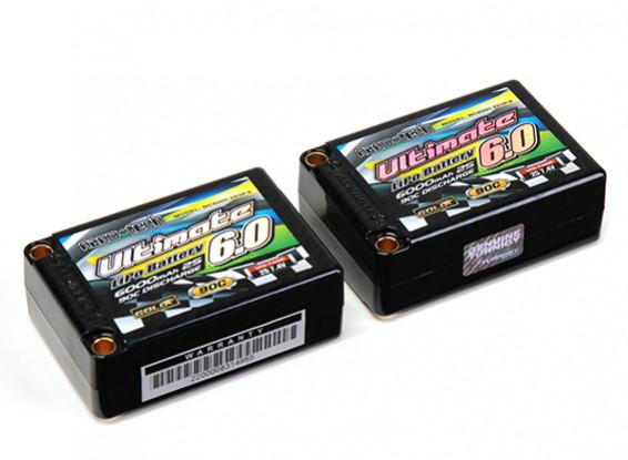 Turnigy nano-tech Ultimate 6000mah 2S3P 90C Hardcase Lipo Saddle Pack (ROAR & BRCA Approved)