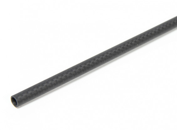 8 x 6 x 750mm Carbon Fibre Tube (3K) Plain Weave Matt Finish