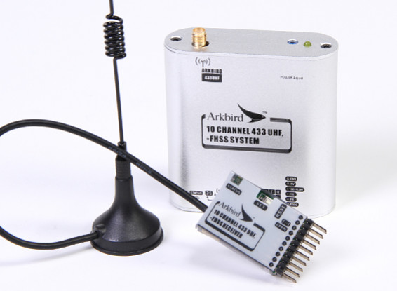 Arkbird 433MHz 10 Channel FHSS UHF Module / Repeater Station with Receiver