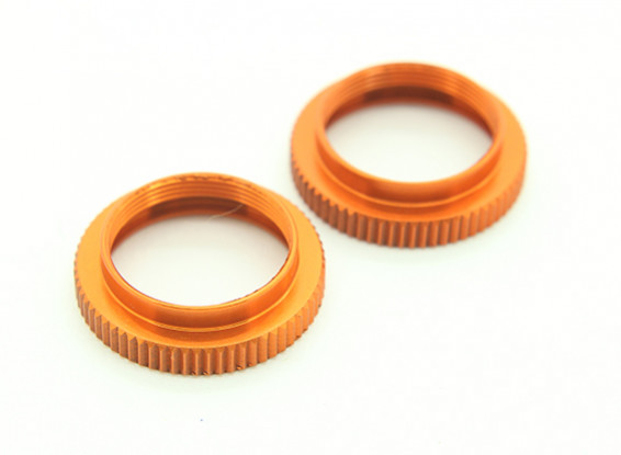 XRAY T4 2014 1/10 Touring Car - Aluminum Shock Adjustable Nut - Orange (2) – T4