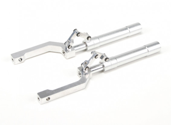 Alloy Oleo Struts Offset with Trailing Link 140mm P-47 Style (2pcs)