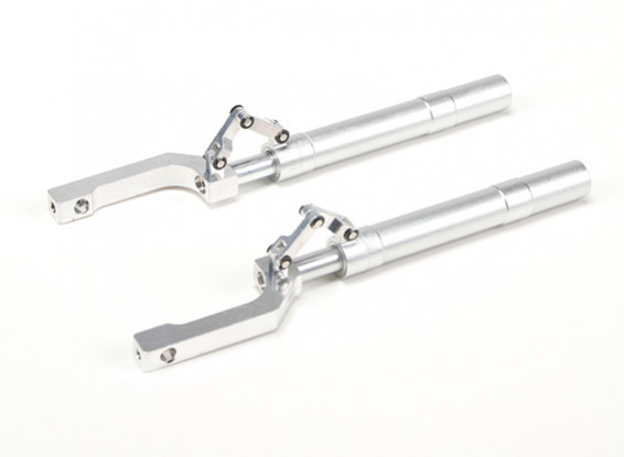 Alloy 155mm Offset Oleo Struts with Trailing Link for 12.7mm Mounting Pin  (2pcs)