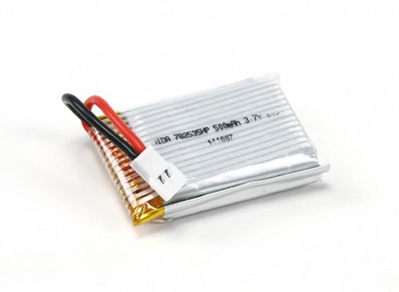 HobbyKing™ Mini X6 Micro Hexa-copter Replacement Battery 3.7V 500mAh (1pc)