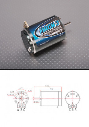 Turnigy Mach2 10.5T Brushless R/C Car Motor w/timing adjust 3650kv