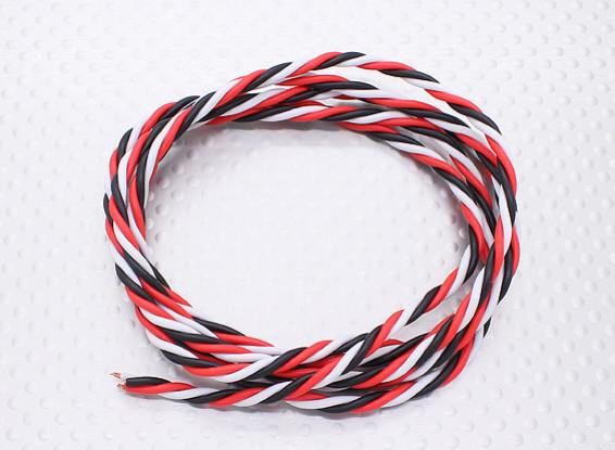 Twisted 22AWG Servo Wire 1mtr (R/B/W)