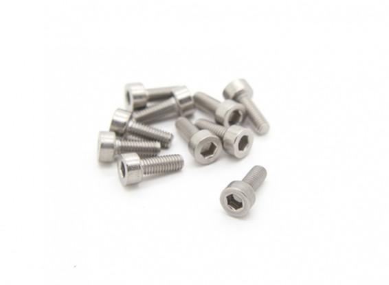 Titanium M3 x 8 Sockethead Hex Screw (10pcs/bag)