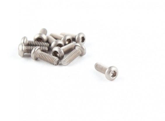 Titanium M2 x 6 Button Head Hex Screw (10pcs/bag)