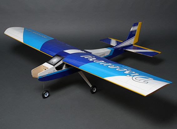 Discovery (Blue) Balsa Hi-Wing Trainer GP/EP 1620mm (ARF)