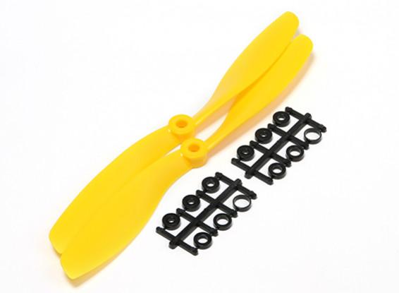 Turnigy 8x4.5 Slowfly Pusher Propeller Yellow (2pcs)
