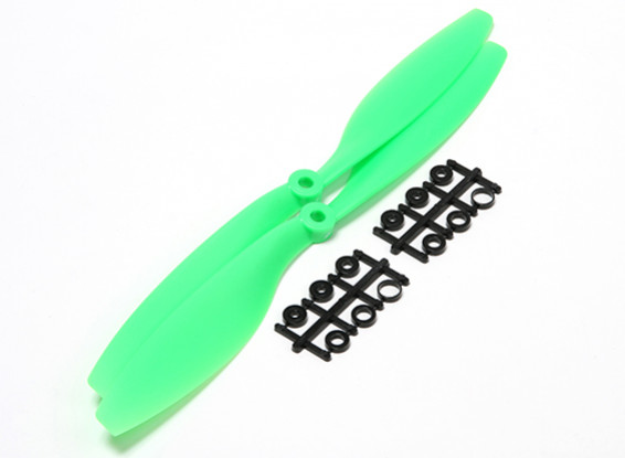 Turnigy 10x4.5 Slowfly Pusher Propeller Green (2pcs)