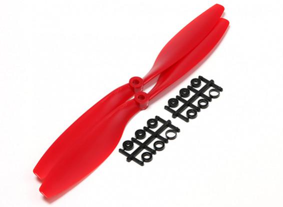 Turnigy 10x4.5 Slowfly Pusher Propeller Red (2pcs)