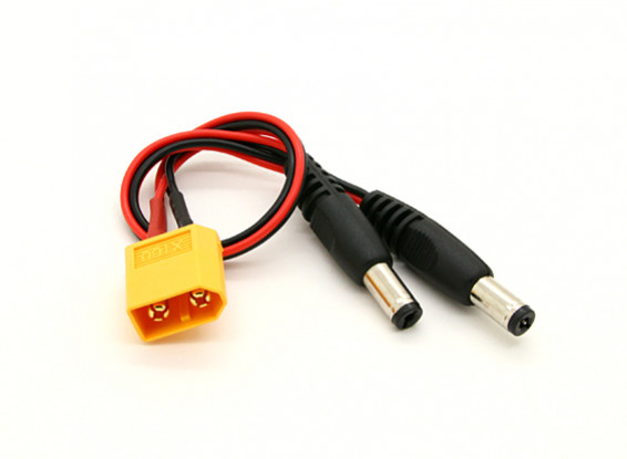 XT60 to 2 x DC Jack Converter (1pc)