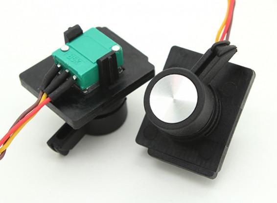 FrSky 2.4GHz ACCST TARANIS X9D Digital Telemetry Transmitter Replacement Side Slider (2pcs)