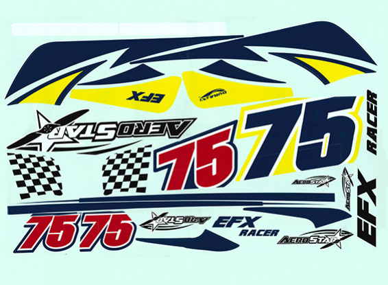 Durafly™ EFX Racer - Decal Set (Yellow)