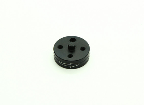 CNC Aluminum Quick Release Self-Tightening Prop Adapter - Black (Prop Side) (Clockwise)