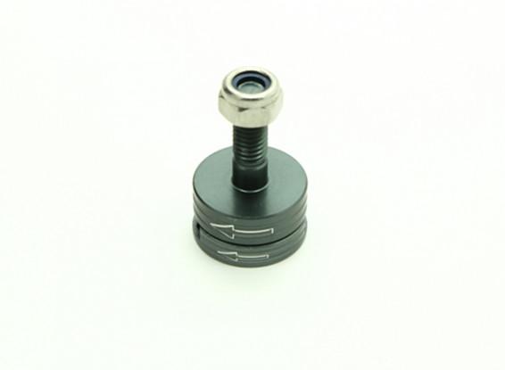 CNC Aluminum M6 Quick Release Self-Tightening Prop Adapter Set - Titanium (Counter-clockwise)